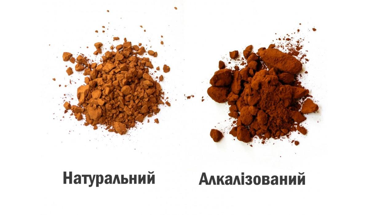 Що таке алкалізований какао порошок та чим він відрізняється від натурального